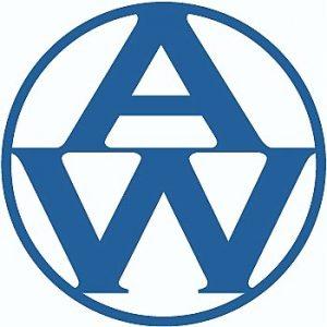 Logo, blau