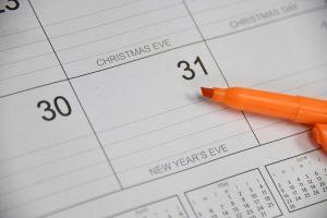 Grafik zum Thema Kalender 2020 - Bild von eliza28diamonds auf Pixabay